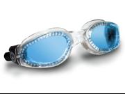 Aqua Sphere Kaiman Blue Lens Transparent Frame Swim Goggles Small