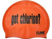 1Line Sports Got Chlorine Silicone Swim Cap Orange