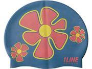 1Line Sports Flower Trio Silicone Swim Cap Royal