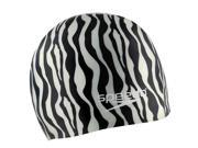 Speedo Hydrotribe Silicone Swim Cap Black/White