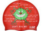 1Line Sports Don't Bug Me Silicone Swim Cap Orange
