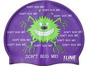 1Line Sports Don't Bug Me Silicone Swim Cap Purple