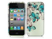 iPhone 4 / 4S Charcoal Drawing Flower Design Snap-On Hard Case