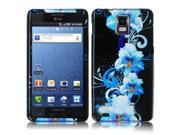 Samsung Infuse 4G i997 Blue Flower Design Snap-On Hard Case