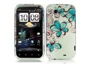 HTC Sensation 4G Charcoal Drawing Flower Design Snap-On Hard Case