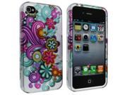 iPhone 4 / 4S Flower Ribbon Design Snap-On Hard Case