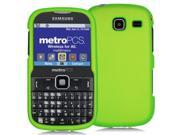 Samsung Freeform 3 R380 Lime Green Rubberized Snap-On Hard Case