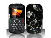 Motorola Clutch i475 White Flowers Design Snap-On Hard Case