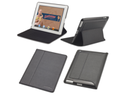 Slim iPad 3 Case: The Ridge by Devicewear - Vegan Leather New iPad Case with Six Position Stand With On/Off Switch