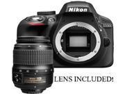 Nikon D3300 24.2 MP CMOS DX-format Digital SLR Body Only (BLACK) with Nikon 18-55mm f/3.5-5.6G ED II AF-S DX Zoom-Nikkor Autofocus Lens