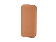 Kensington Portafolio Tan Nappa Solid Flip Wallet for iPhone 5 K39605WW