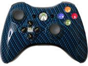 Custom Xbox 360 Controller: Blue Black Carbon Fiber With Evil D-Pad