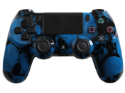 PlayStation 4 Dualshock 4 - Custom PS4 Controller with Blue Skullz Shell