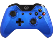 Modded Xbox One Controller  Special Edition Blue Chrome Adjustable Rapid Fire Controller