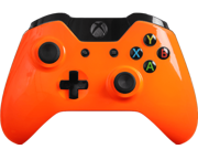 Modded Xbox One Controller Special Edition Glossy Orange Adjustable Rapid Fire Controller