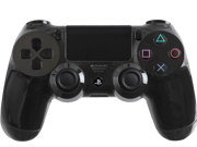 Custom PS4 Controller with Glossy Black Shell