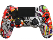 Modded PS4 Controller Special Edition Sticker Bomb with Rapid Fire, Drop Shot and more mods for Call of Duty, Killzone and Battlefield