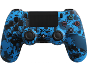 Evil Controllers Modded PS4 Controller Special Edition Blue Urban with Rapid Fire, Drop Shot and more mods for Call of Duty, Killzone and Battlefield