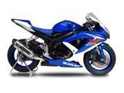 Yoshimura R-77 Slip-On Exhaust Stainless Muffler/Carbon End Cap Fits 08-09 Suzuki GSXR750