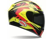 Bell Qualifier DLX Clutch Full Face Helmet  Hi Vis Yellow/Red XS