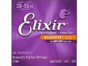 Elixir 6-String Baritone Acoustic Guitar Strings