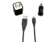 USB Data Cable + AC Charger + Car Charger for Verizon HTC Droid Incredible 1 2