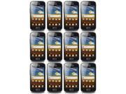 Lot 12X Crystal LCD Screen Protector Film +Cloth for Samsung Galaxy Ace 2 i8160