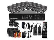 BV Tech Surveillance System w/ 16Ch 960H DVR and 16 700TVL IR Cameras