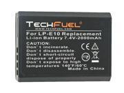 TechFuel Li-ion Rechargeable Battery for Canon LP-E10 Digital Camera