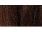 Natural Wool Roving 0.3 Ounce-Chocolate