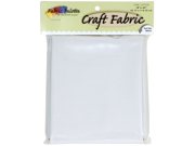 "Craft Fabric 45"" Wide 1/2 Yard Cuts-White"