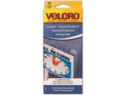 Velcro 91302 Sticky-Back Hook & Loop Fasteners  5/8   Diameter Coins  Clear  75 per Pack