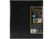 "Leatherette Postbound Album 8.5""X11""-Black"