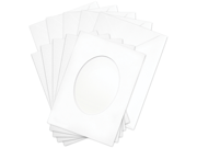 Flower Soft Oval Aperture Cards & Envelopes-5 Each