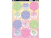 """Seasons Die-Cut Punch-Out Sheet 8""""X12""""-Woodland Toppers Pink"""