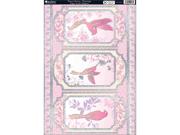 """Free As A Bird Die-Cut Punch-Out Sheet 8""""X12""""-Dawn Chorus Flamingo Pink"""