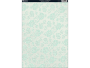 "Free As A Bird Heavyweight Background Card Sheet 8""X12""-Lotus Rose Kingfisher Green"