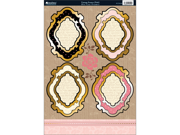 """Shabby Chic Die-Cut Punch-Out Sheet 8""""X12""""-Vintage Frame Pink/Ivory"""