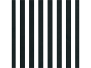 "Printed Single-Sided Cardstock 12""X12""-Black & White Big Stripe"