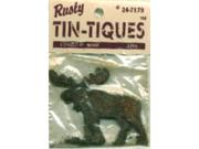 "Rusty Tin-Tiques Tin Cut-Outs-Moose 2-3/4""X2-1/4"" 2/Pkg"