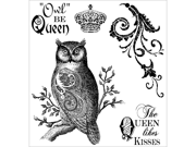Darcie's Cling Mounted Rubber Stamps-Owl Be Queen