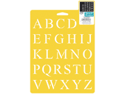"Stencil Mania Stencil 7""X10""-Times Alphabet"
