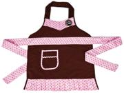 "Cricut Cake Child Size Apron 22""x20"" 1/pkg-Pink & Brown"