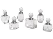 Crystal Perfume Bottle Assortment 6/pk-