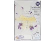 Invitation Kit 50/Pkg-Pressed Floral/Lavender