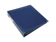 """We R Faux Leather 3-Ring Binder 8.5""""X11""""-Cobalt"""