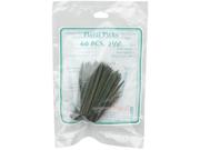 """Floral Picks 2-1/2"""" 60/Pkg-Green"""