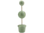 "Topiary Form Bulk 2"" & 3"" Balls 3""Base 14"" Tall-Green"