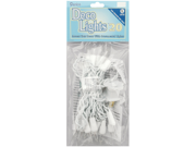 Deco Lights 20 Count 8 Feet-Clear Bulbs W/White Wire