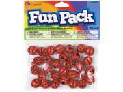Fun Pack Sports Beads 12mm 30/Pkg-Basketball